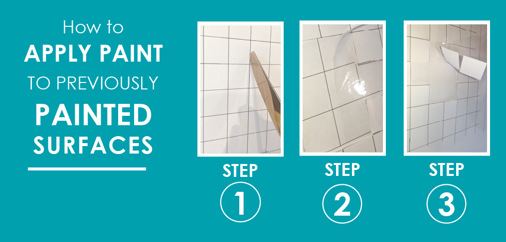 how to apply paint to previously painted surfaces